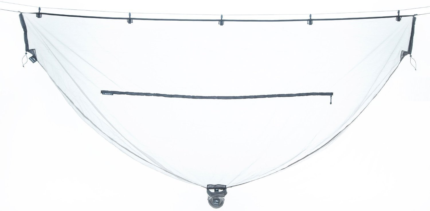 Kammok Dragonfly - Hammock Insect Net - 10 Foot Bug Net for Hammock Camping - Compact, Lightweight, Breathable, Quick & Easy Setup - 360º Protection - Premium Mesh for Total Protection from Mosquitoes