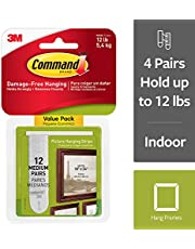Save on Command 17204-12ES  Medium Picture Hanging Strips Value Pack, White and more
