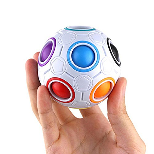 Alotm Magic Rainbow Ball 3D Plastic Cube Twist Puzzle Toys Educational Toy For Kids Children Teenagers  Stress Reliever Gift For Adult