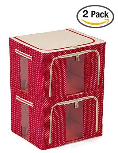 JJMG Stackable Polka Dots Oxford Cloth Steel Frame Shelf ...