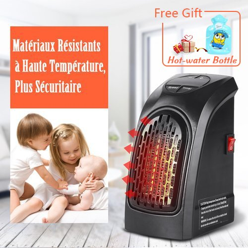 -[ Handy Heater, Portable 350W Wall Out-let Electric Space Heater with Adjustable Timer Digital Dis