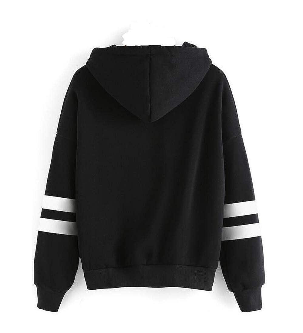 Pandapang Women Classic-fit Halloween Coat Drawstring Fleece Hooded Fit Sweatshirts