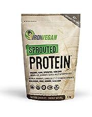 Iron Vegan Protein Powder - Sprouted Protein, Chocolate Flavour, 1kg   Vegan, plant-based, organic, gluten-free