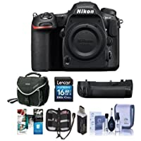Nikon D500 DSLR Body - Bundle with Nikon MB-D17 Multi Power Battery Pack, 16GB SDHC Card, Camera Case, Cleaning Kit, Memory Wallet, Card Reader, Software Package