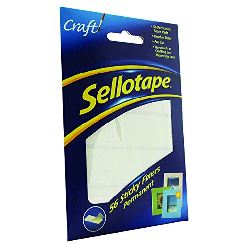 Sellotape Sticky Fixers Double-sided 12x25mm 56 Pads Ref 1445423 [Pack of 12] Henkel Ltd SE37984