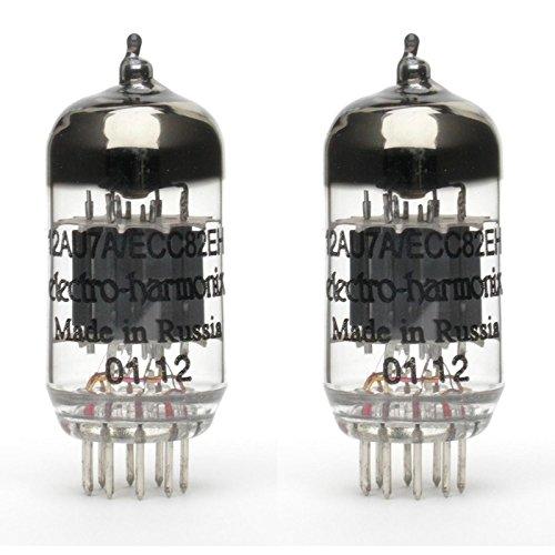 (Pair of Electro-Harmonix 12AU7 EH Preamp Vacuum Tube)