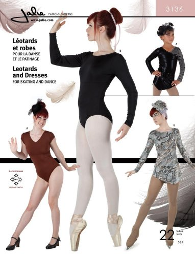 Dance Costume Patterns (Jalie Gymnastics Leotard and Dresses Figure Skating Costume Sewing Pattern #3136)