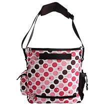 Baby Milk Bottle Diaper Polkdot Bag Mum Shoulder Handbag K1725 (Pink)