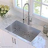 Kraus KHU100-32 32-inch 16 Gauge Undermount Single Bowl Stainless Steel Kitchen Sink