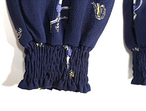 Lunga Vita Estivi marca Stoffa Pantaloni Pantaloni Pantaloni Donna di Pantaloni Di Stampato Mode Tempo Blau Fashion Elastica Libero Spiaggia Gymnastik Baggy BOLAWOO Eleganti Wxqpw0YxAt