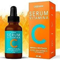Serum Vitamina C + Ácido Hialurônico + Vitamina E + Ureia - Sérum Facial - 95% Ingredientes Naturais - Clareia…