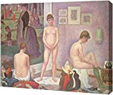 "This 9"" x 11"" premium gallery wrapped canvas print of Les Poseuses by Georges Seurat is meticulously created on artist grade canvas utilizing ultra-precision print technology and fade-resistant archival inks. This magnificent canvas print is gallery ..."
