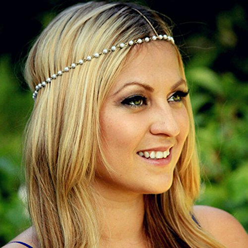 Aukmla Headbands for Women, Head Chain for Casual & Party & Evening