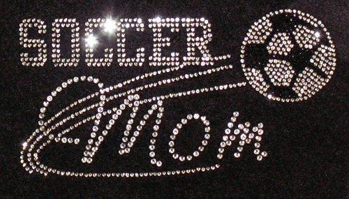 Soccer Mom Iron On Rhinestone Crystal T-shirt Transfer by Jubilee Rhinestones