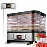 Kaluo Electric Food Dehydrator with 5 Stackable Drying Trays, Multi-Tier Food Preserver with Temperature Control for Beef Jerky, Dried Fruits, Vegetables & Nuts[US STOCK] (250W-Type 2)