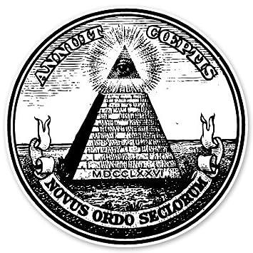 Eye Of Providence All Seeing Pyramid Dollar Bill Vinyl Sticker