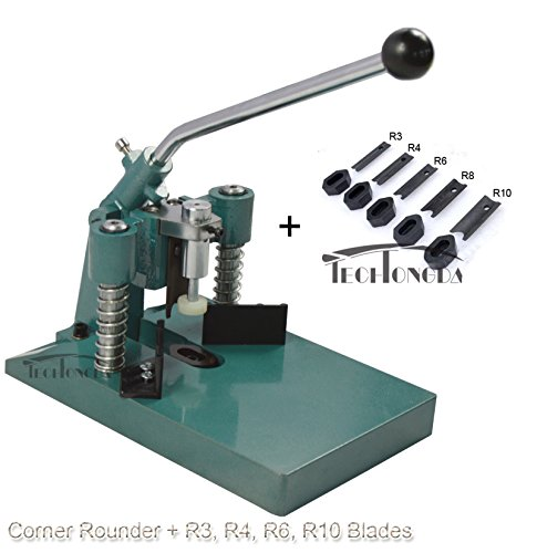 INTBUYING All Metal Heavy Steel R6 R10 Corner Rounder Punch Cutter Stack Paper Alumium+ R3 R4 R8 - Blade Heavy Extra