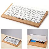 EchoAcc® iMac Keyboard Stand, Wood Craft Bluetooth Wireless Keyboard Holder Stents Stand for iMac, Mac Pro Desktop Computer