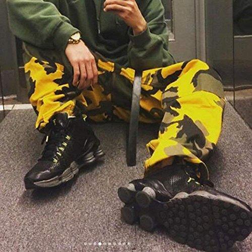 Sciolto Chic Fashion Abbigliamento Outdoor Pantaloni Accogliente Casual Donna Pantalone Ragazza Eleganti Haidean Training Tuta Militari Sportivi Vintage Gelb wPHISWtq