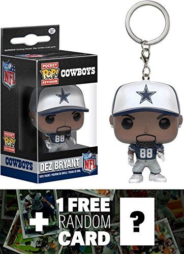 Dez Bryant - Cowboys: Pocket POP! x NFL Mini-Figure Keychain + 1 FREE Official NFL Trading Card Bundle (102407)