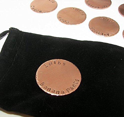 Amazon com: GOLF BALL MARKER, Pocket Token, copper, Hand