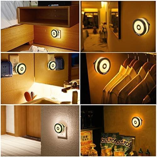 Bewegungsmelder Kinderzimmer Neue Intelligente Nachtlicht-bewegungssensor-led-nachtlampe Batteriebetriebene Wc-nachttischlampe F/ür Raumflur-weg-toilette Warmwei/ß