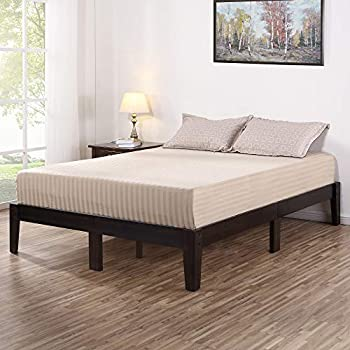Amazon Com Olee Sleep Vc14sf02k Deluxe Wood Platform Bed
