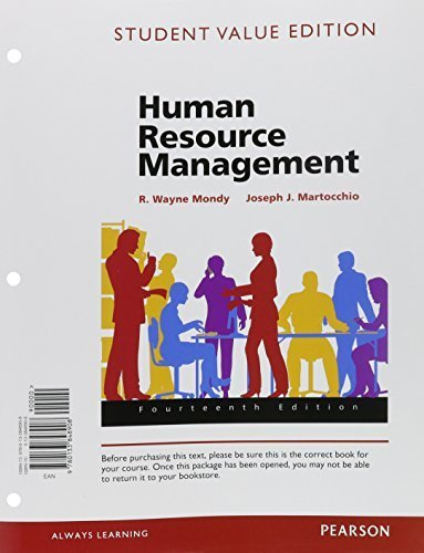 Human Resource Management Mondy 13th Edition Pdf