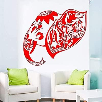hllhpc Extraíble Ganesha Arte Etiqueta de La Pared Indian Elephant ...
