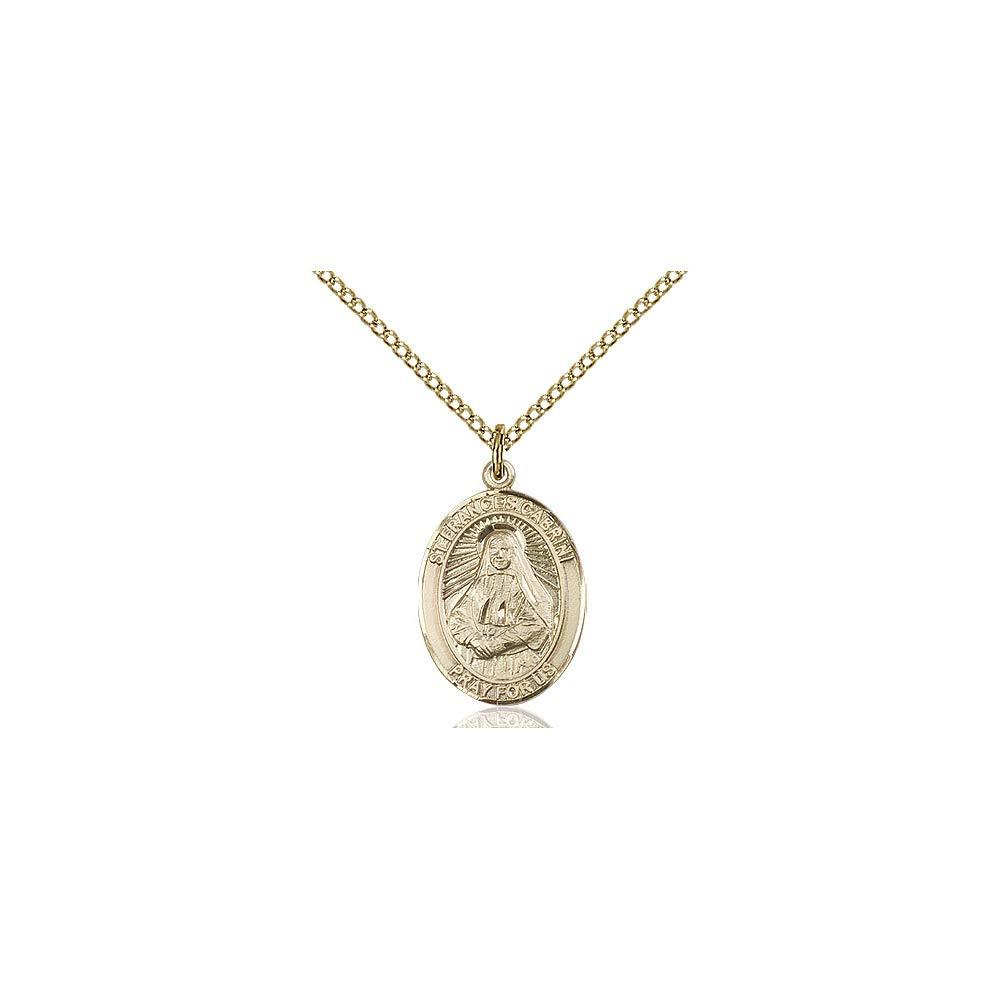 Frances Cabrini Pendant DiamondJewelryNY 14kt Gold Filled St