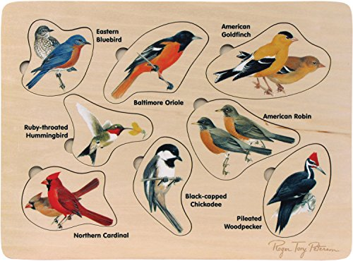 Lift and Learn Peterson's Backyard Birds Puzzle - Made in USA