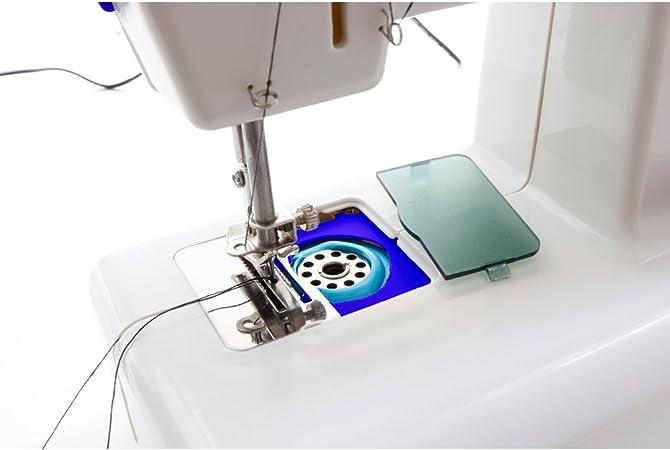 Jocca Maquina de Coser, Blanco y Azul, 21.7x12x20.5 cm: Amazon.es ...