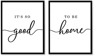 It's So Good To Be Home Set of 2 Prints, Living Room Wall Decor, Living Room Signs, Typography Family Quote, Home Sign (11