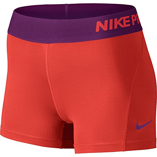 Nike Women's Pro Cool 3-Inch Training Shorts (Lt Crimson/Cosmic Purple/Cosmic Purple/Large) by NIKE