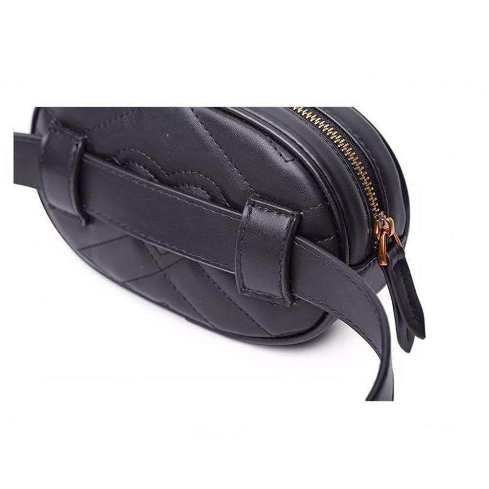 FeliciaJuan Women Waist Bum Bag Solid PU Leather Belt Bag Multifunctional Zipper Fanny Pack Mini Travel Outdoor Sports Bag Cell Phone Pouch Cash Money Bag Color : Light Pink