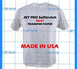 JET PRO SOFSTRECH INKJET IRON ON HEAT TRANSFER PAPER 11 X 17 25 SHEETS