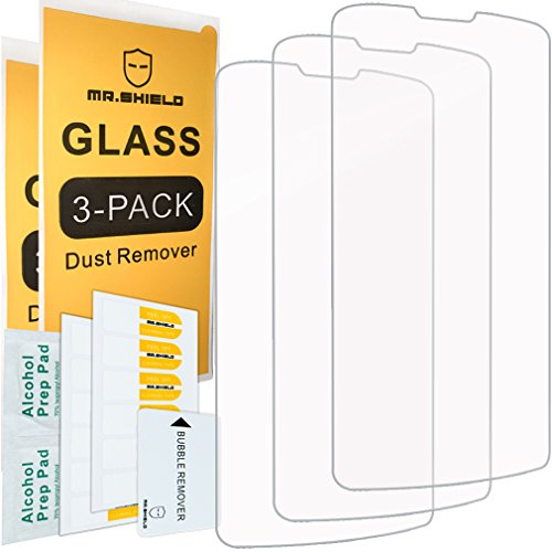 Mr Shield [3-Pack] for ZTE Quest N817 / Uhura [Tempered Glass] Screen Protector with Lifetime Replacement Warranty