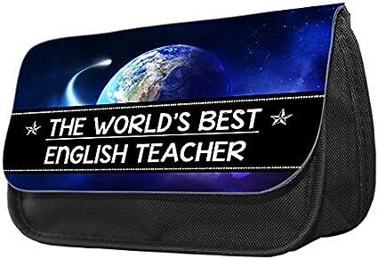 Hiros® El mejor estuche para profesores de inglés, estuche de maquillaje, estuche para lápices, cartera.