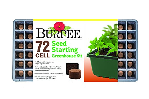 (Burpee 72 Cell Seed Starting Greenhouse Kit, One Size, black)