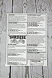 3 Yardzee Score Cards. Laminated Score Cards With