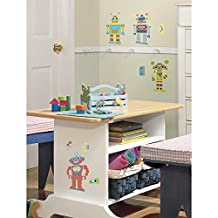 RoomMates RMK1120SCS Build Your Own Robot Peel and Stick Wall Decals