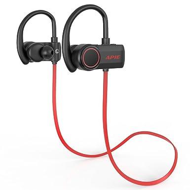 APIE Auriculares Bluetooth Wireless Auriculares Bluetooth 4.1 con Micrófono Deporte Estéreo Auricular Banda de Cuello Estéreo