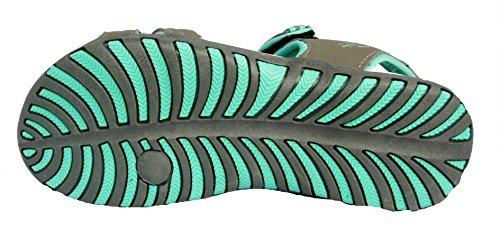 Mujer Northwest Territory Memphis playa senderismo Sandalias gris oscuro / Verde Azulado