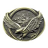 3D Eagle Wildlife Mountain Gold Bird Belt Buckle