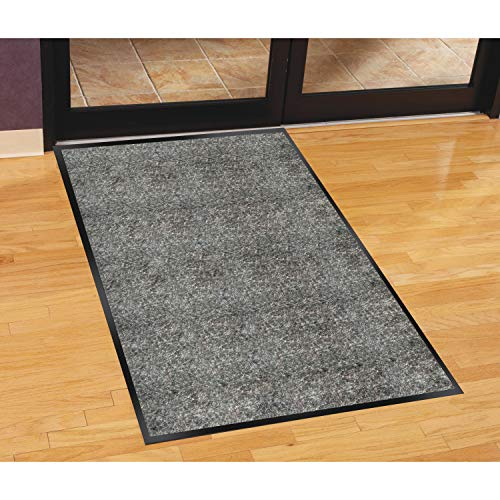 (Genuine Joe Indoor Mat with Moisture Absorbent, 4 by 6-Feet, Charcoal )