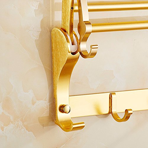 outlet khskx golden fold towel rack bathroom towel rack bathroom towel rack multifunctional bathroom accessories