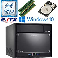 Shuttle SH110R4 Intel Core i5-7400 (Kaby Lake) XPC Cube System , 32GB Dual Channel DDR4, 2TB HDD, DVD RW, WiFi, Bluetooth, Window 10 Pro Installed & Configured by E-ITX