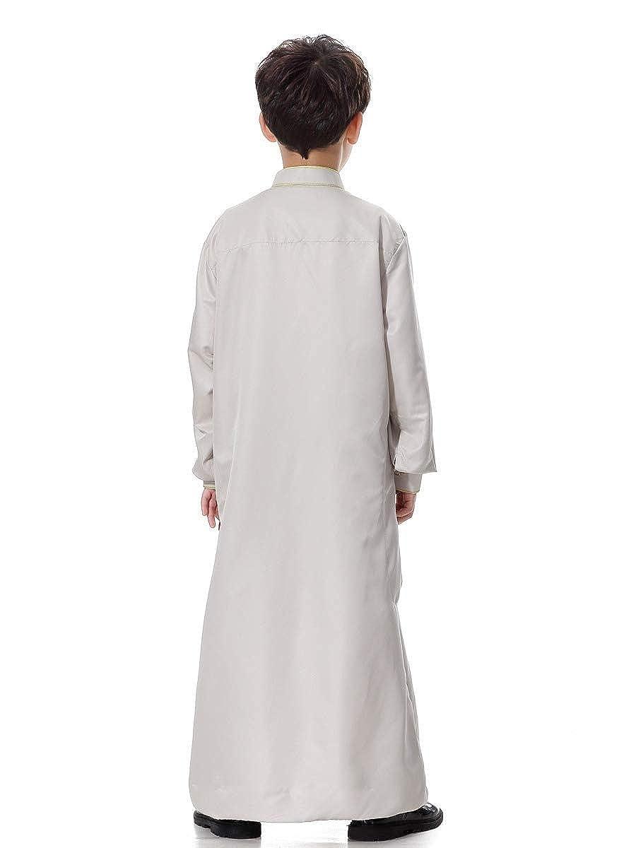 Coolred Boy Muslim Casual Islamic Thobe Fashion Printing Blouse Shirts