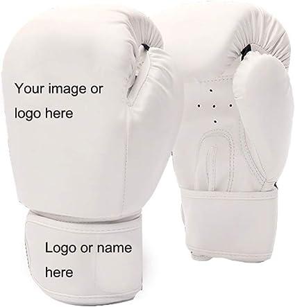 Guantes de boxeo personalizados Guantes de entrenamiento personalizados con su imagen / nombre: protección de nudillos Soporte de muñeca para boxeo MMA Muay Thai o entrenamiento deportivo de combate: Amazon.es: Deportes y