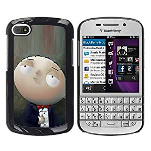 LASTONE PHONE CASE / Slim Protector Hard Shell Cover Case for BlackBerry Q10 / Character Cartoon Family Baby Smart